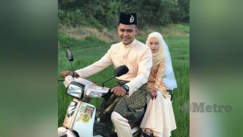 Gambar Syakila Norazma Amira dan Muhammad Azri yang mendapat perhatian warganet. FOTO ihsan pembaca