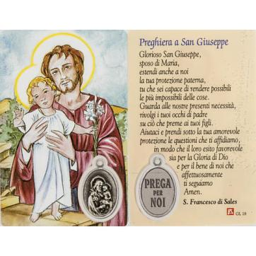 Holy card, Saint Joseph with prayer, laminated | online sales on ...