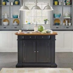 Distressed Kitchen Island Funny Gadgets Islands Home Styles Americana Black And Oak Finish