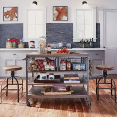 Kitchen Carts White Table And Chairs Home Styles Barnside Metro Cart