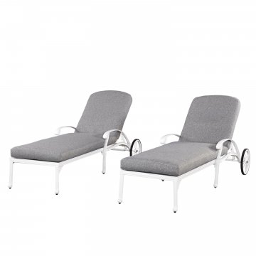 white chaise chair stretch slipcovers t cushion lounge chairs home styles floral blossom w cushions 2