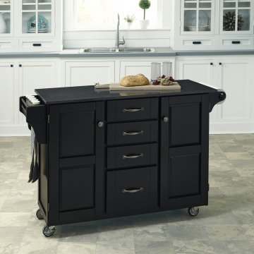 home styles kitchen cart cute curtains carts create a in satin black finish