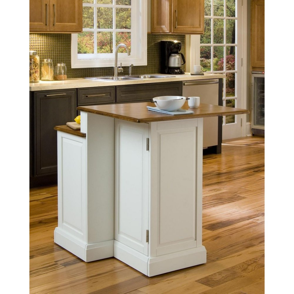 Woodbridge White Two Tier Island  Homestyles