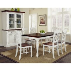 Dark Kitchen Table Spice Rack Monarch Rectangular Dining And Six Double X Back Chairs Home