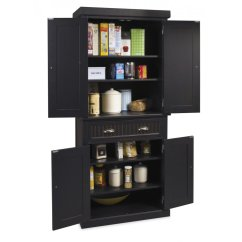 Replacement Shelves For Kitchen Cabinets Best Drain Cleaner Sink Nantucket Pantry Black Distressed Finish | Homestyles