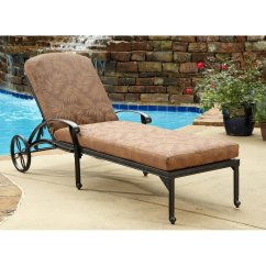 Lounge Chair Patio Clip On Umbrella For Nz Floral Blossom Chaise W Cushion Home Styles