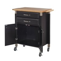 Dolly Madison Black Kitchen Cart