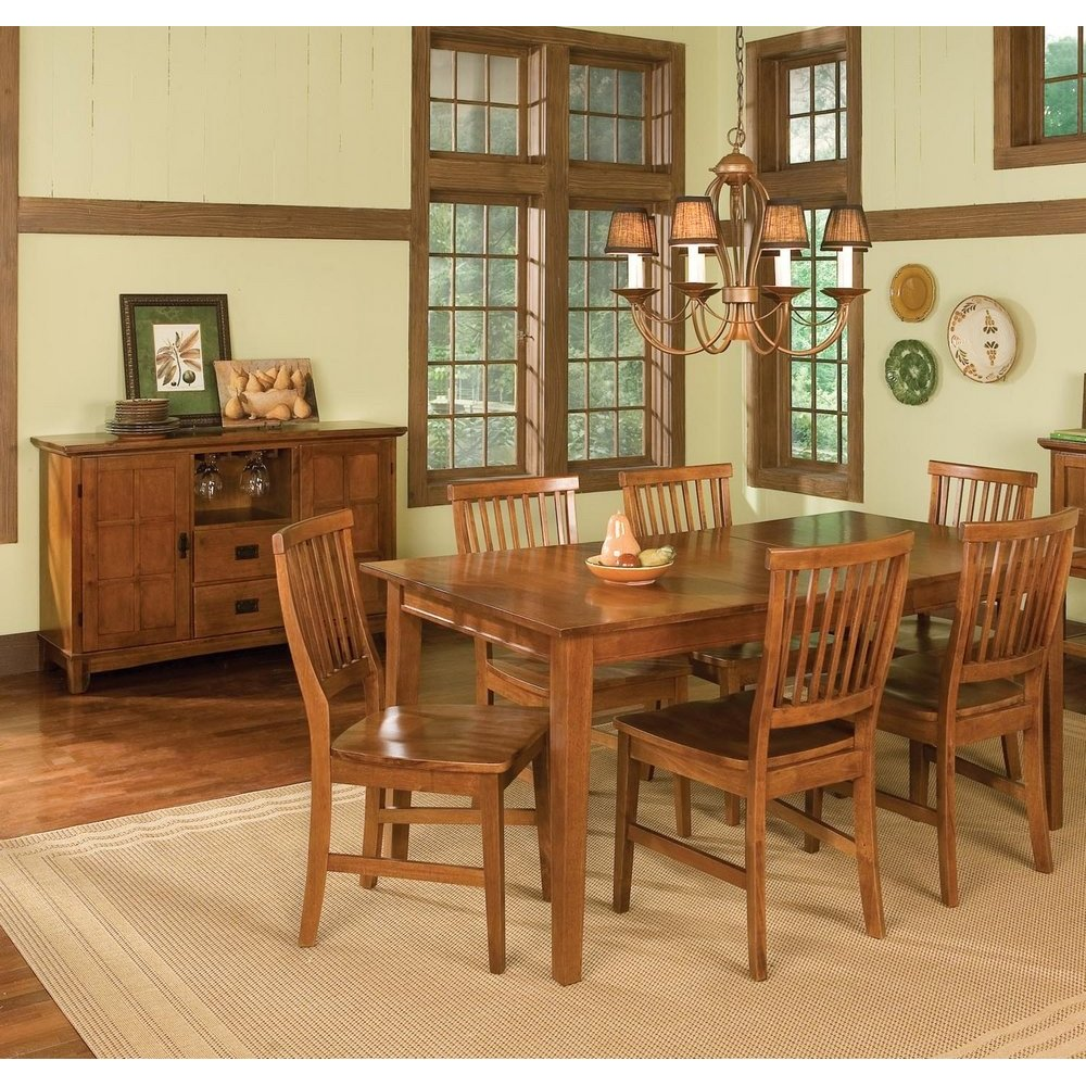Arts & Crafts Buffet Cottage Oak Finish Home Styles