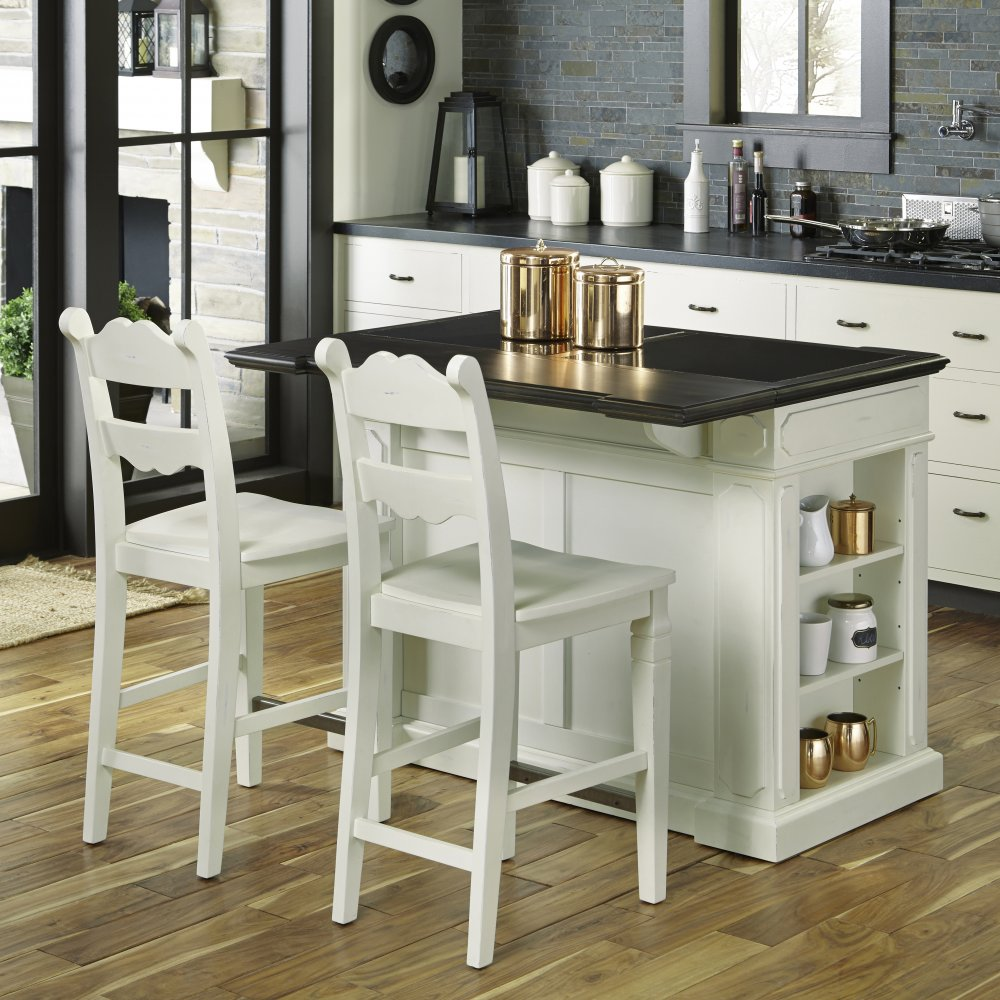 Fiesta Granite Top Kitchen Island With 2 Stools Home Styles