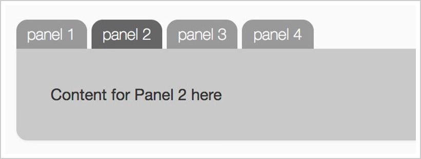 50+ Nice Clean CSS Tab-Based Navigation Scripts - Bailey Street Design