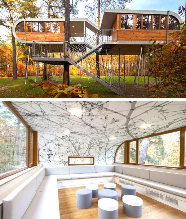 дом на дереве baumraum