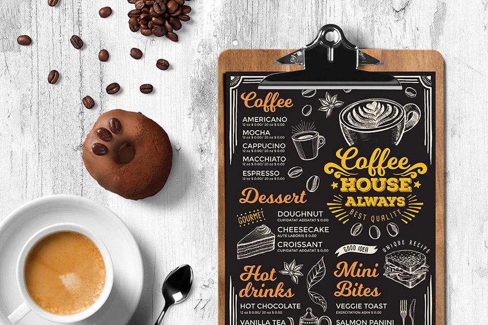 Шаблон кофейного меню от Envato