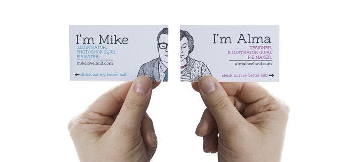Wife and Husband Design Studio Card