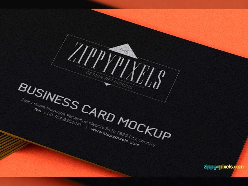 Макет визитной карточки с накоплением