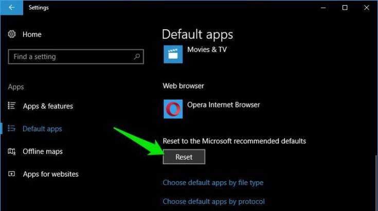 How to set new default apps in windows 10 izon9 reset reset fandeluxe Images
