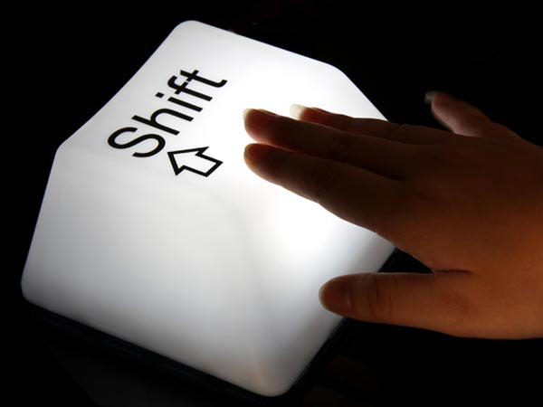 Настольные лампы с клавишами CTRL и Shift