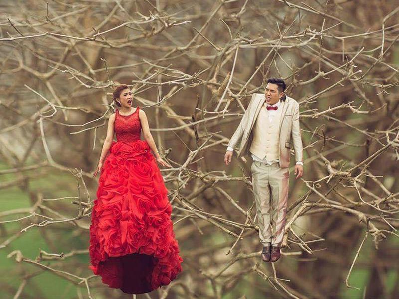 миниатюрная свадебная фотография