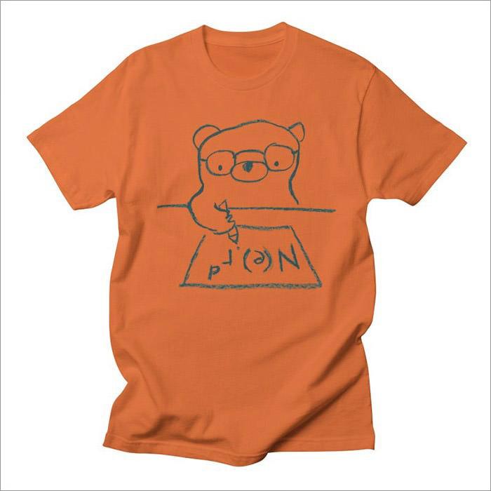 nerd-orange-geek-t-shirt