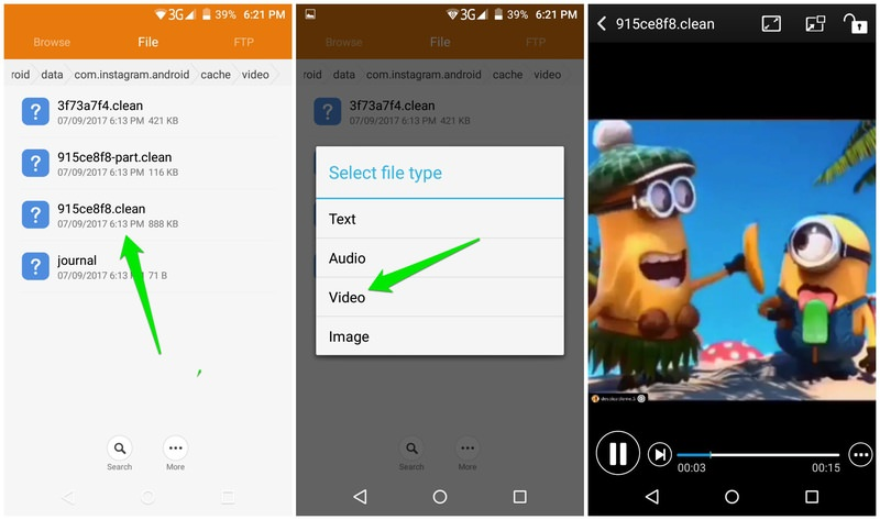 select video to play