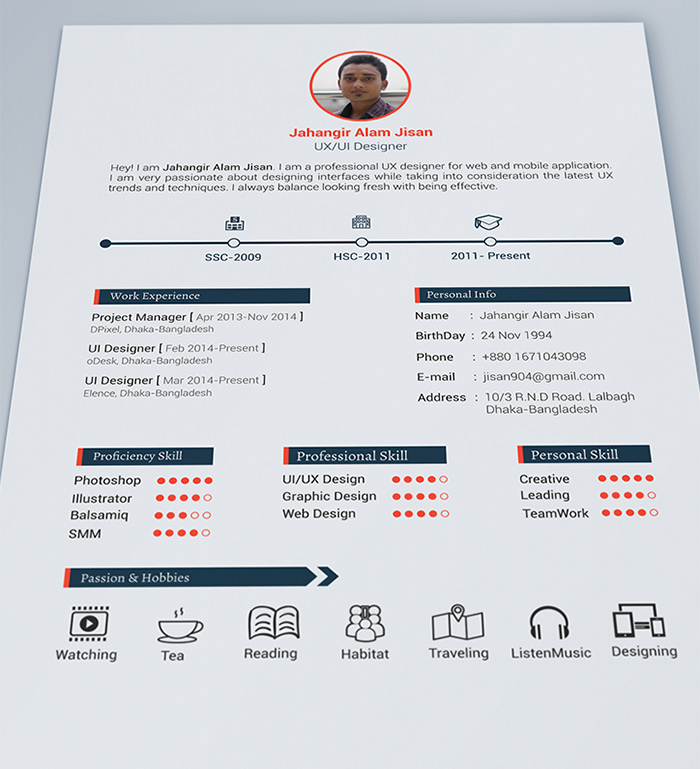 Including multiple different free resume templates for different jobs. 30 Free Beautiful Resume Templates To Download Hongkiat