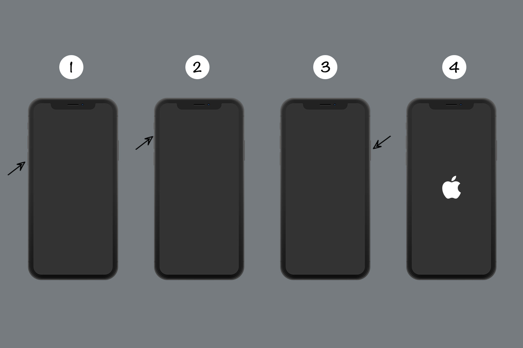 force restart iphone 8, iphone x