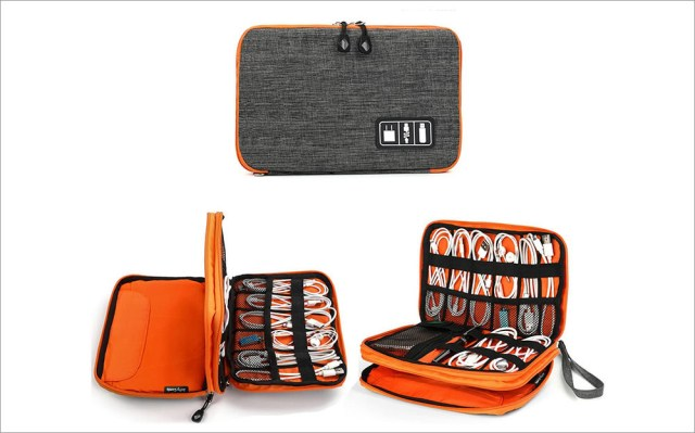 Waterproof cable organizer bag