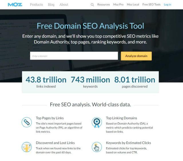Free domain analysis allows you to perform free SEO analysis