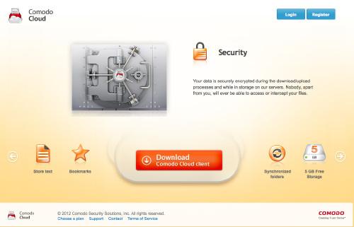 Интернет-хранилище Comodo