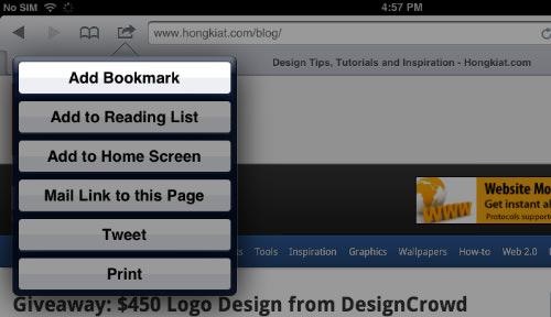 Firebug Закладка для iPad