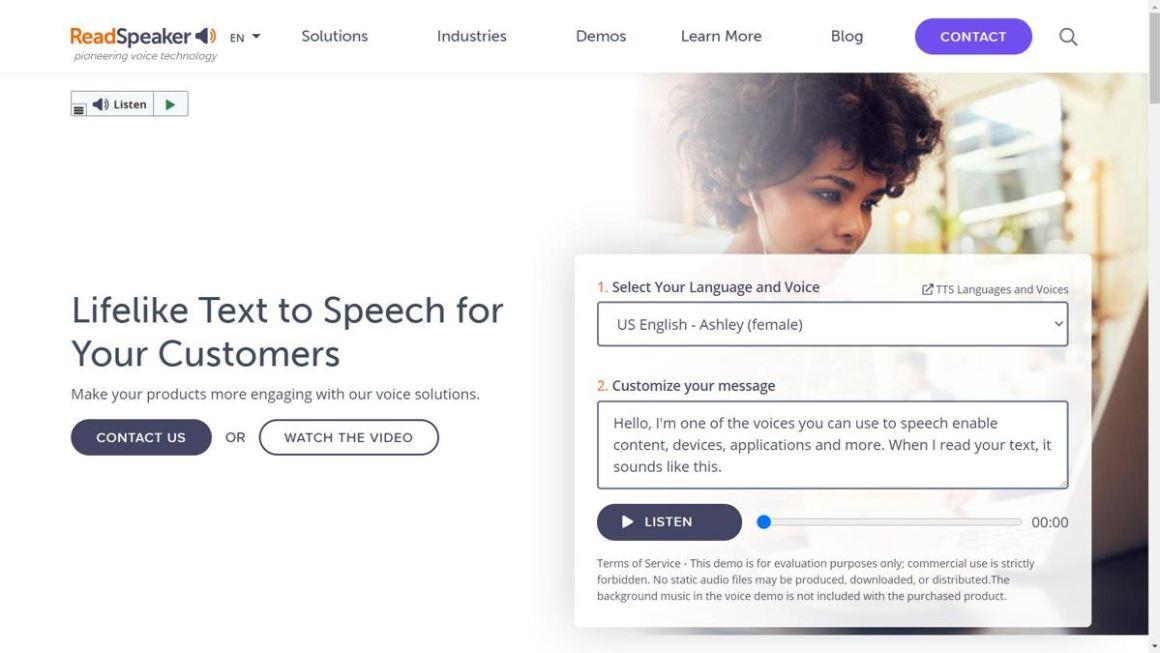 ReadSpeaker предлагает отличные решения для преобразования текста в речь