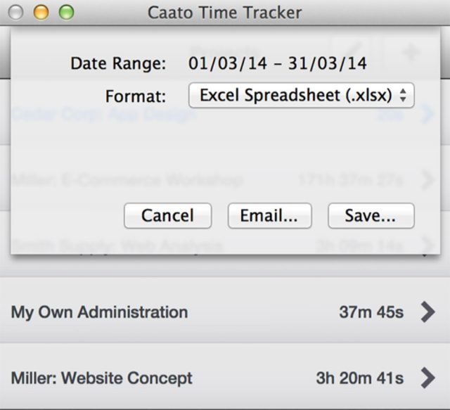 Caato time tracking