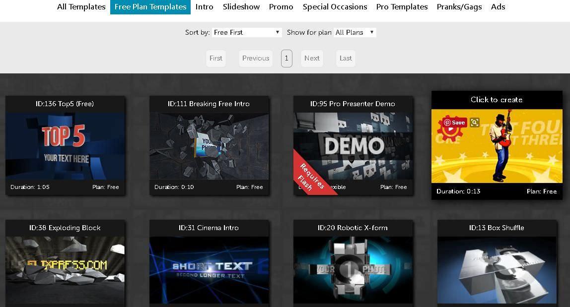 Flixpress avails multiple templates