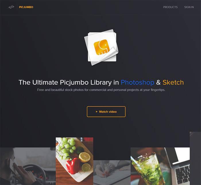 picjumbo домашняя страница дизайна страницы