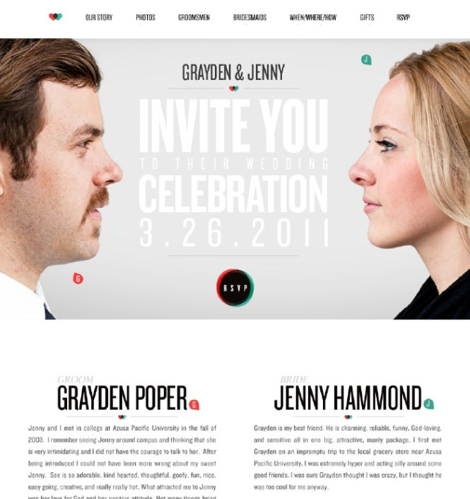 20 Beautiful Wedding Invitation Website