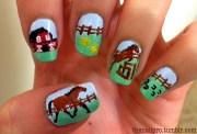 nail art design equestrians
