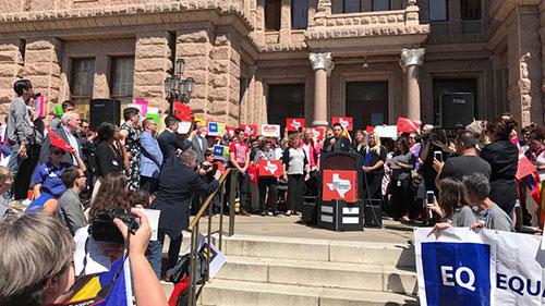 Texas Advocacy Day, Sara Ramirez