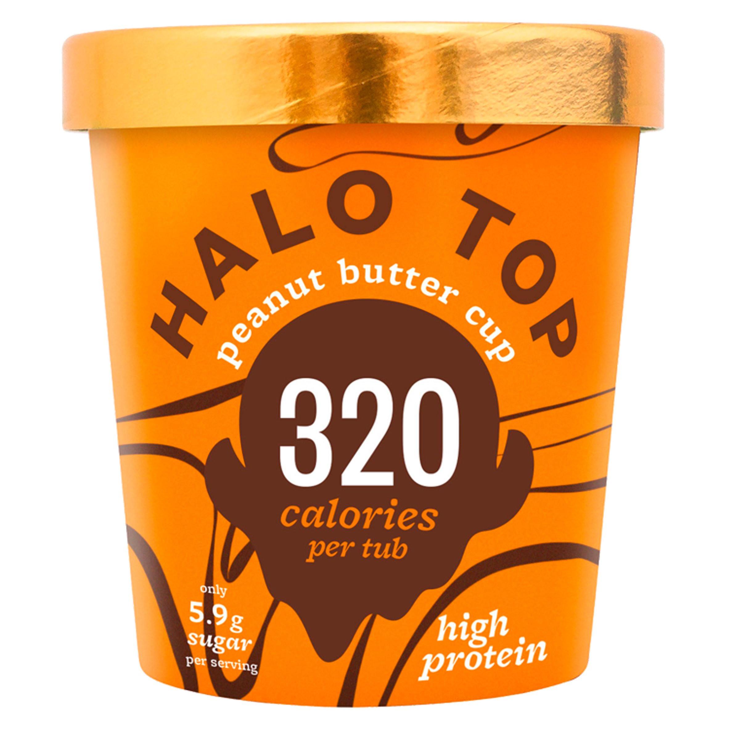 Halo Top Peanut Butter Cup Ice Cream 473ml   Ice Cream ...