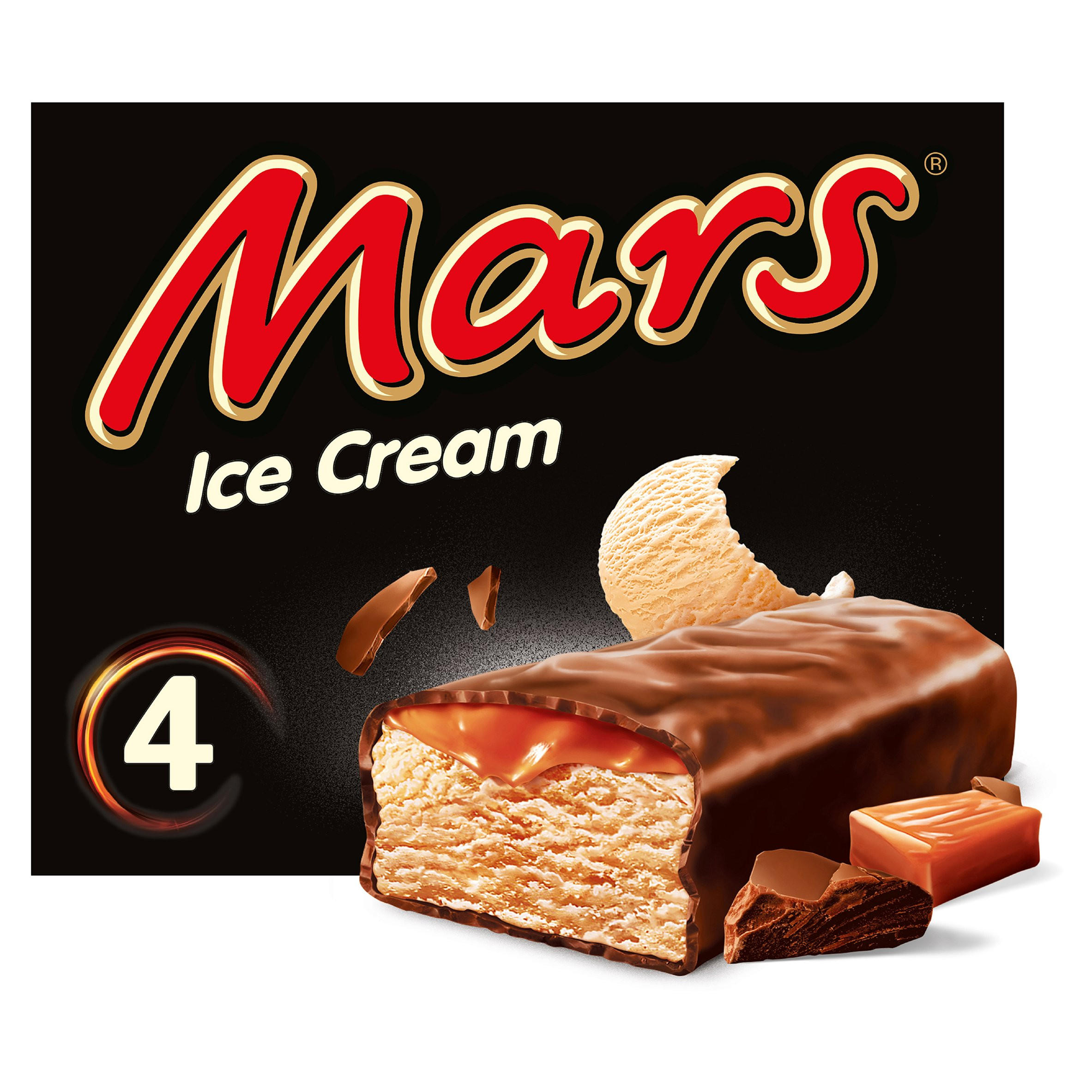 Mars Chocolate Caramel Ice Cream Bar 4 x 51ml | Ice Cream Cones. Sticks & Bars | Iceland Foods