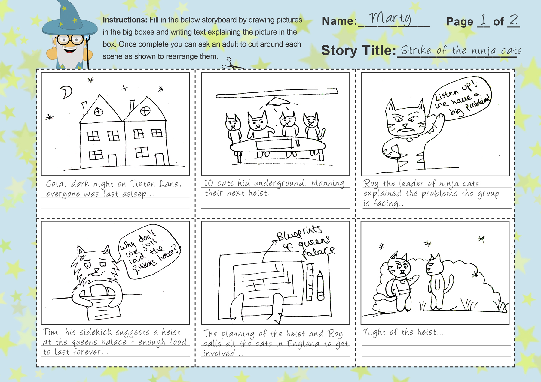Storyboard Template For Kids Free Template