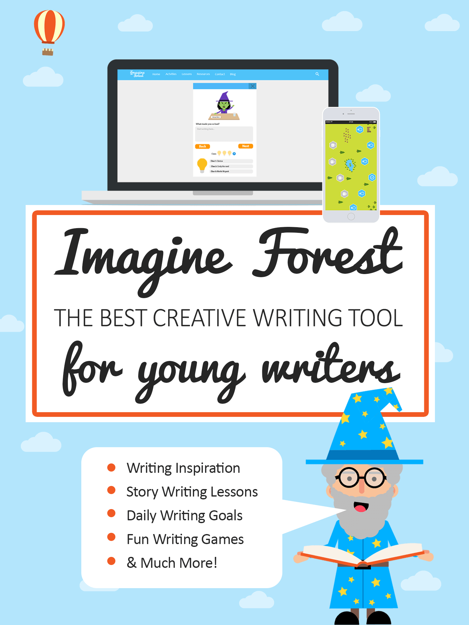 Creative Writing Resources For Kids Imagine Forest Launch