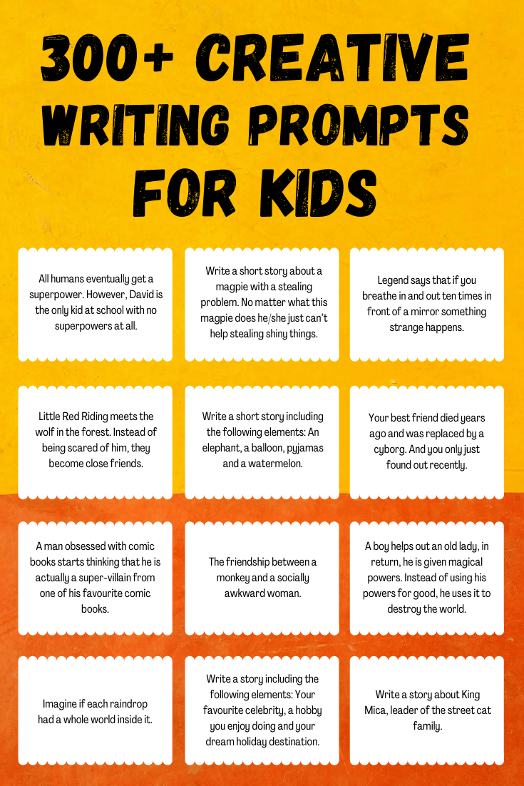 medium resolution of 300+ Writing Prompts for Kids (+ FREE PDF) ✍️   Imagine Forest