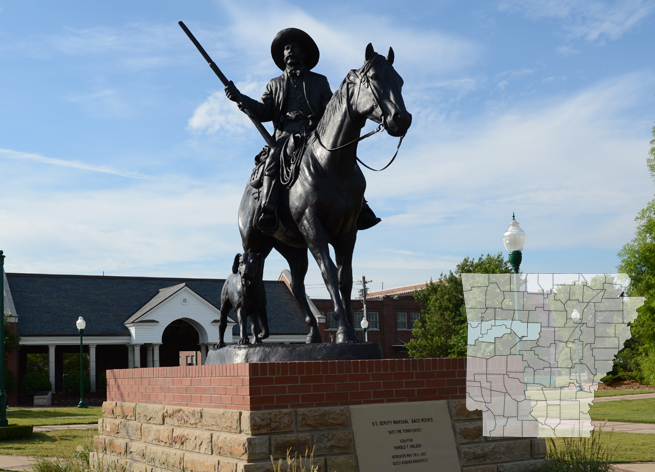 Bronze statue of Bass Reeves