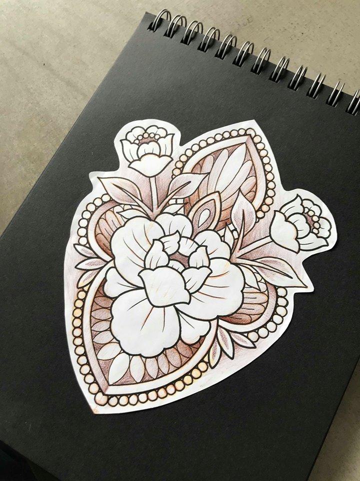 Peony Mandala Tattoo Design