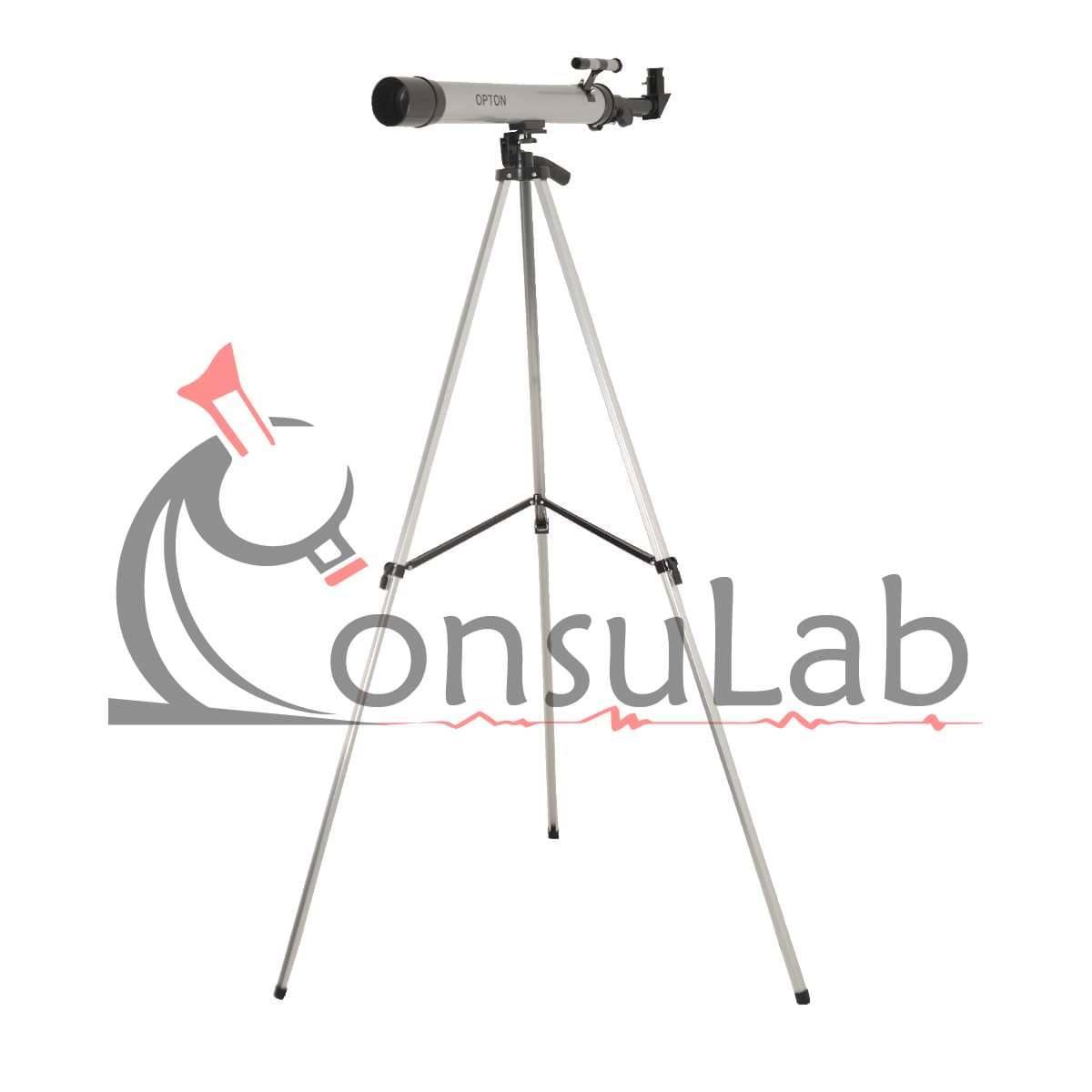 Telescópio Astronômico com Abertura de 50mm e Lente Focal