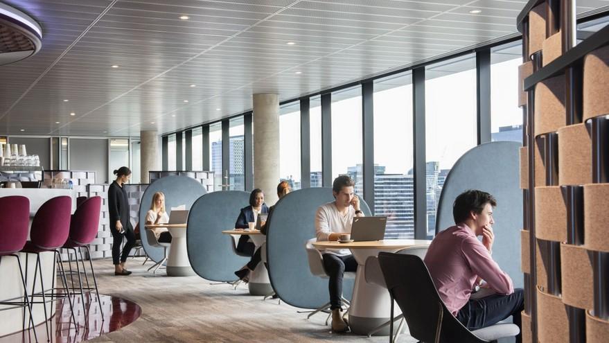 Los espacios comunes en las oficinas también se verán modificados con la pandemia