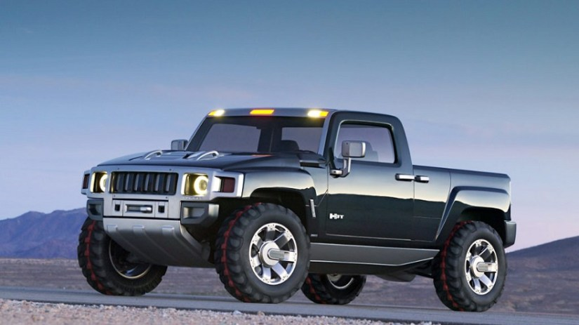 The electric Hummer and converted into a pick up.