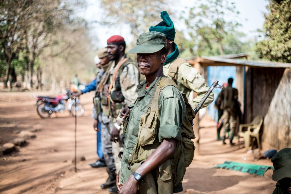 Ex-Seleka rebels in Bambari
