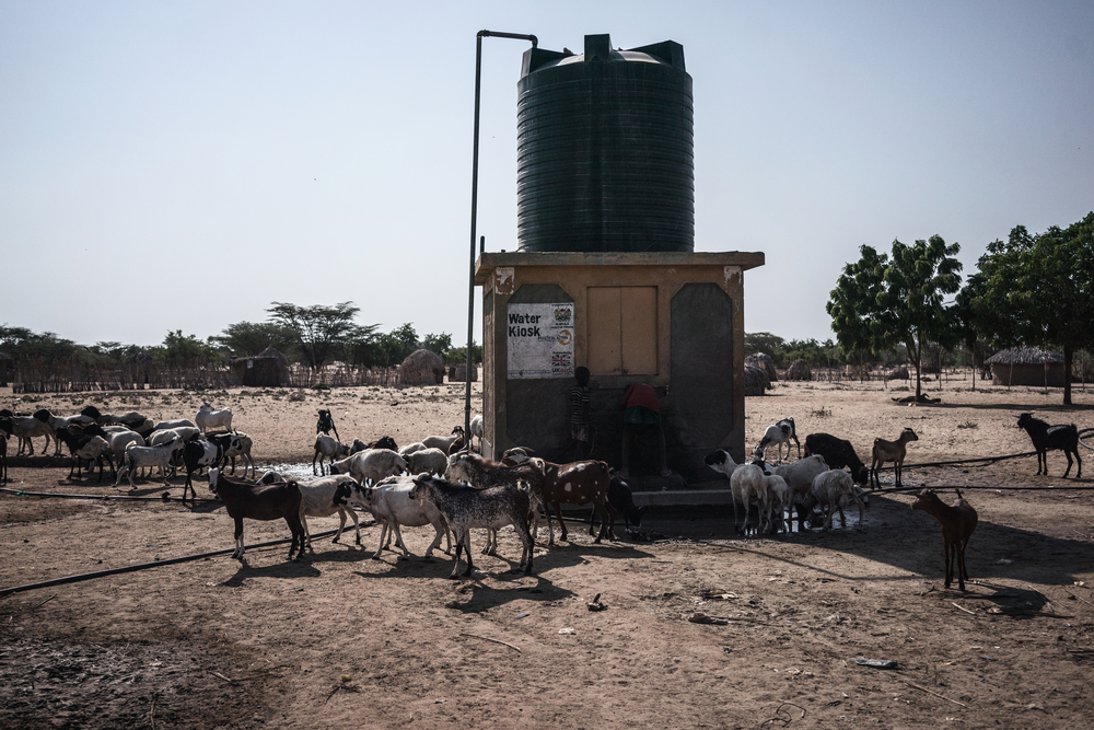 Water point in Turkana County, Kenya