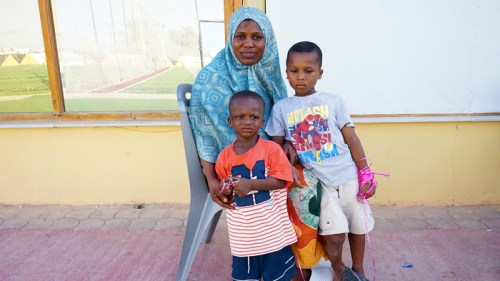 Fatoumata Camara and her two young sons have spent nearly two years in southeast Tunisia, having been brought there after a failed attempt to cross the Mediterranean from Libya to Italy.