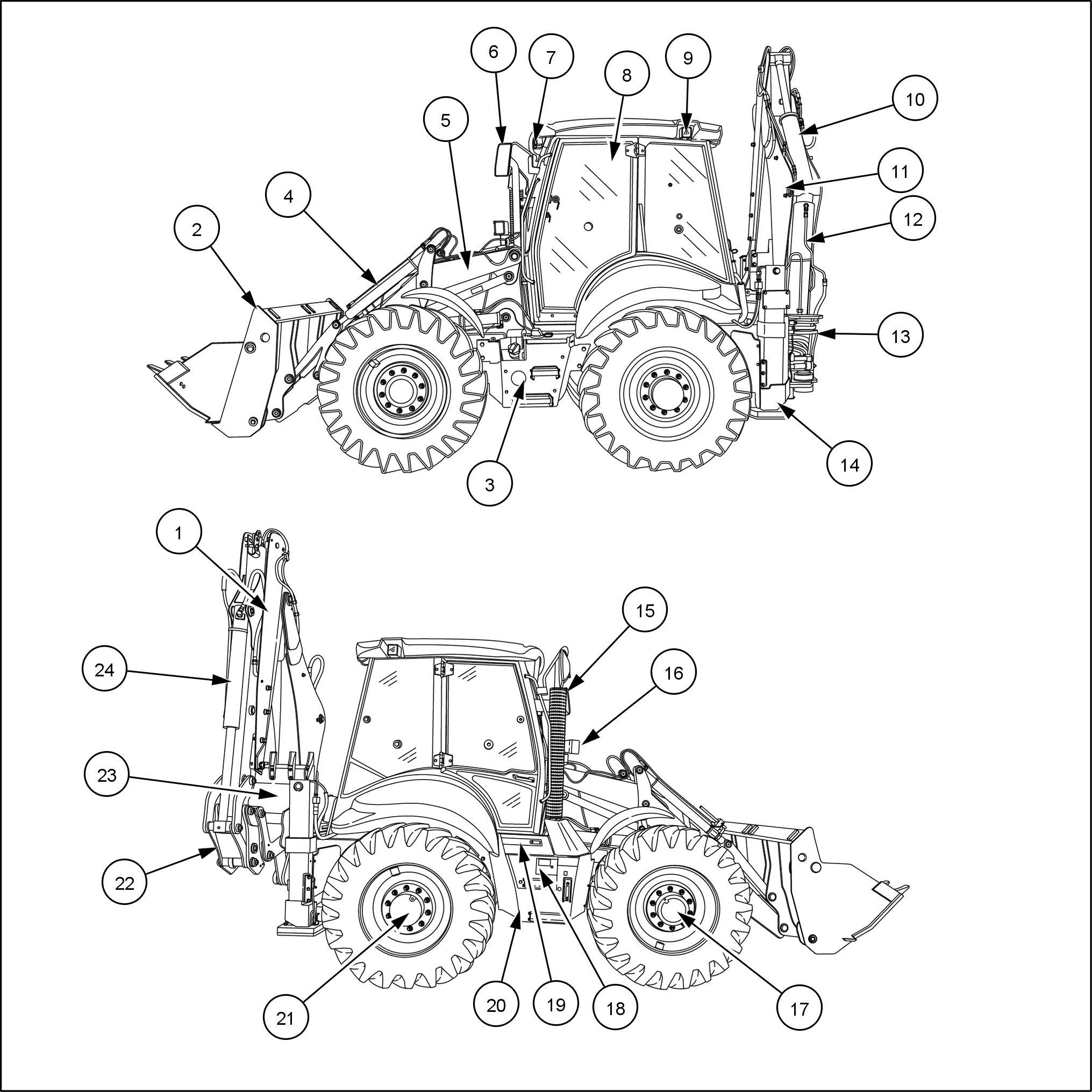 CASE 695ST Stage IV Tractor Backhoe Loader Service Repair